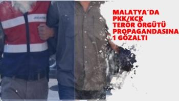 Malatya'da PKK/KCK terör örgütü propagandasına 1 gözaltı