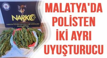 Malatya'da Polisten iki ayrı uyuşturucu operasyonu