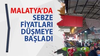 Malatya'da Sebze fiyatları düşmeye başladı