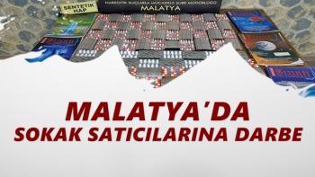 Malatya'da sokak satıcılarına darbe