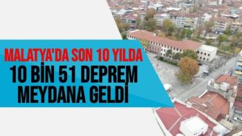 Malatya'da son 10 yılda 10 bin 51 deprem meydana geldi