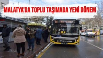 Malatya'da toplu taşımada yeni dönem
