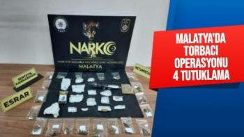 Malatya´da torbacı operasyonu: 4 tutuklama