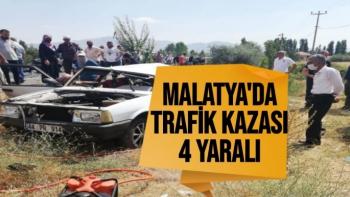 Malatya´da trafik kazası: 4 yaralı
