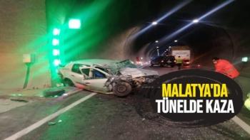 Malatya'da Tünelde Kaza