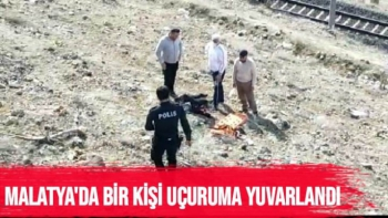 Malatya´da uçuruma yuvarlanan 1 kişi yaralandı