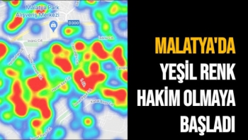 Malatya'da yeşil renk hakim olmaya başladı