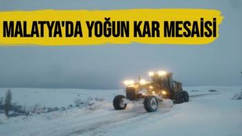 Malatya´da yoğun kar mesaisi