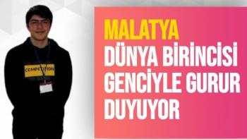 Malatya, Dünya birincisi genciyle gurur duyuyor