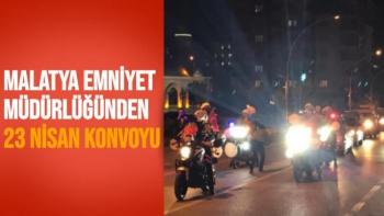 Malatya Emniyet Müdürlüğünden 23 Nisan konvoyu