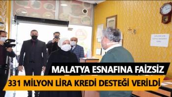 Malatya esnafına faizsiz 331 milyon lira kredi desteği verildi