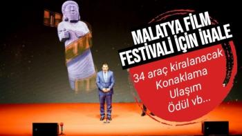 Malatya Film festivaline hizmet ihalesi
