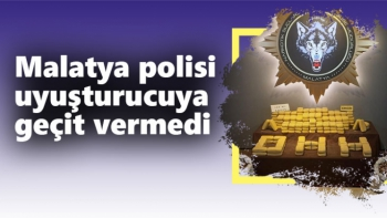 Malatya polisi uyuşturucuya geçit vermedi