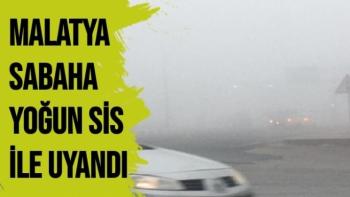 Malatya sabaha yoğun sis ile uyandı