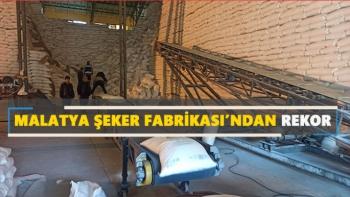 Malatya Şeker Fabrikası'ndan rekor
