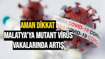 Malatya´ya mutant virüs vakalarında artış
