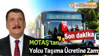 Motaş'dan yolcu taşıma ücretine zam