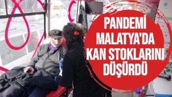 Pandemi Malatya'da kan stoklarını düşürdü
