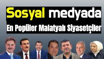 Sosyal Medyada En Popüler Malatyalı Siyasetçiler