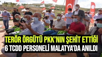 Terör örgütü PKK'nın şehit ettiği 6 TCDD personeli Malatya'da anıldı