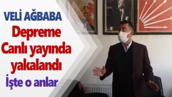 Veli Ağbaba depreme canlı yayında yakalandı