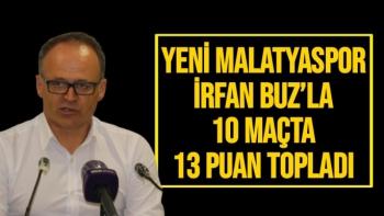 Yeni Malatyaspor, İrfan Buz´la 10 maçta 13 puan topladı