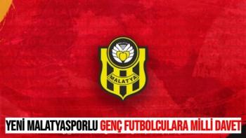 Yeni Malatyasporlu genç futbolculara milli davet