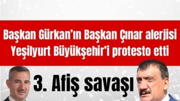 Yeşilyurt Büyükşehir'i protesto etti