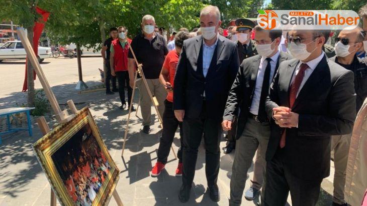 Kahta'da 15 Temmuz fotoğraf sergisi açıldı