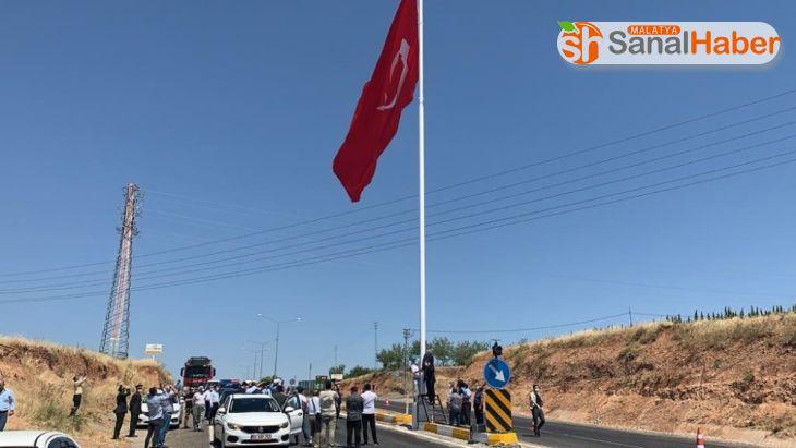 Kahta girişinde dev Türk bayrağı dalgalanacak