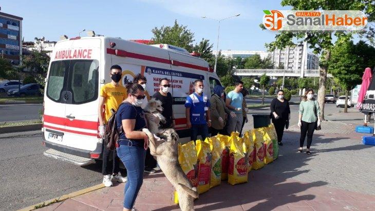 Kahta hayvan bakım merkezine 1 ton mama desteği