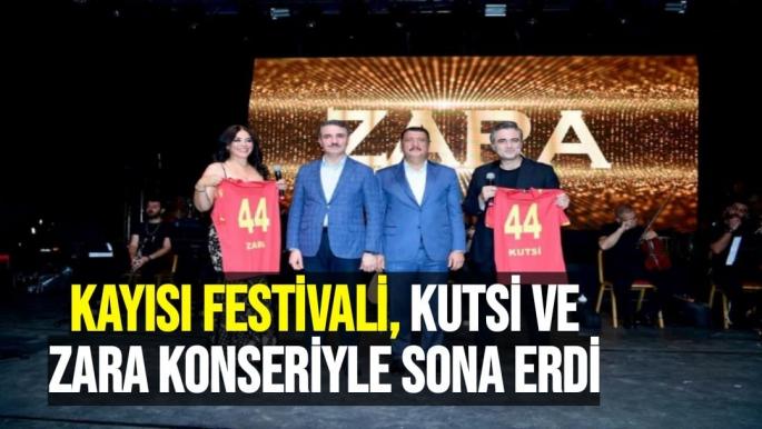 Kayısı festivali, Kutsi ve Zara konseriyle sona erdi