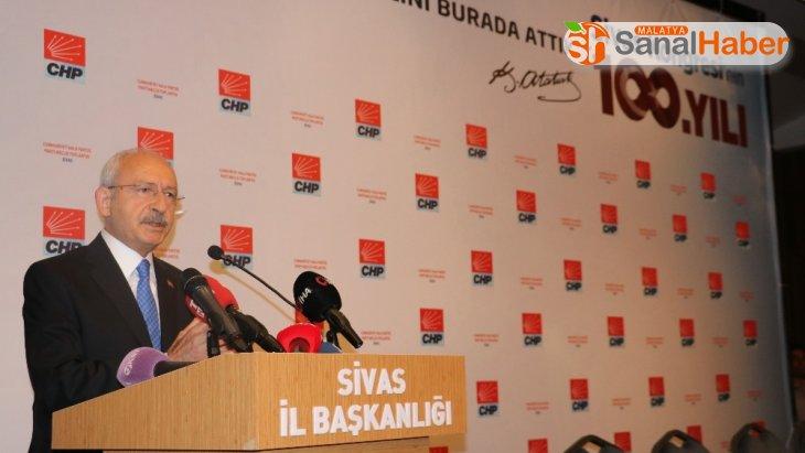 Kılıçdaroğlu Sivas'ta gerçekleştirilen PM toplantısında konuştu