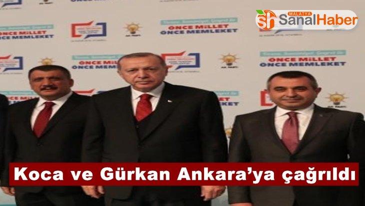 Koca ve Gürkan Ankara'ya çağrıldı
