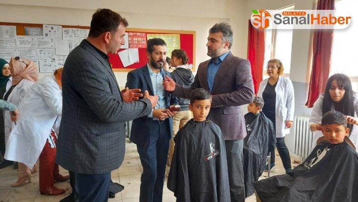 Köy okullarındaki öğrencilere ücretsiz saç bakımı
