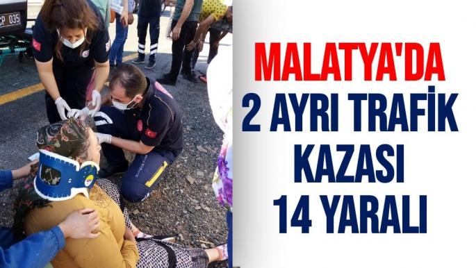 Malatya´da 2 ayrı trafik kazası: 14 yaralı