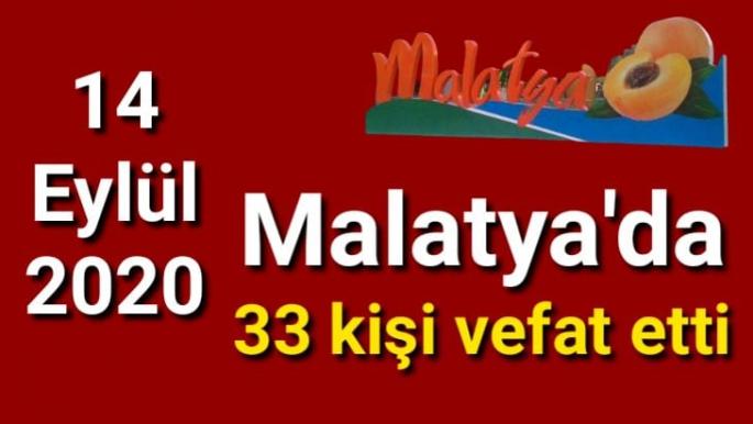 Malatya'da 33 kişi Vefat Etti