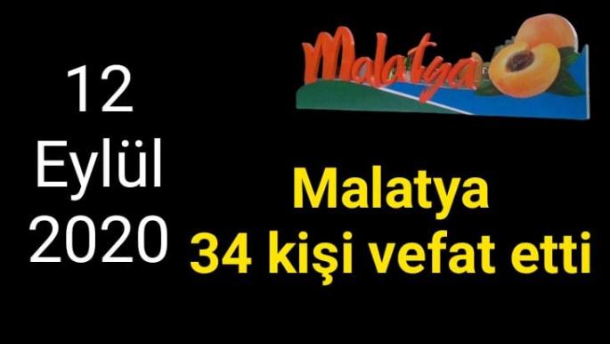 Malatya'da 34 kişi Vefat Etti