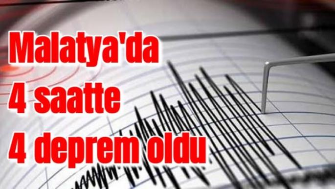 Malatya´da 4 saatte 4 deprem oldu