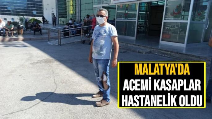 Malatya'da Acemi kasaplar hastanelik oldu