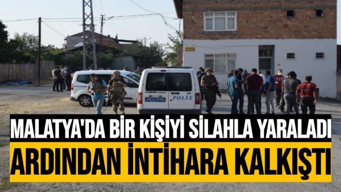 Malatya'da Bir kişiyi silahla yaraladı ardından intihara kalkıştı