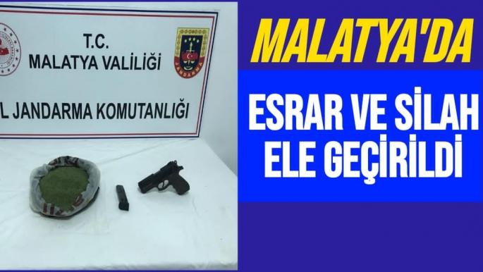 Malatya'da esrar ve silah ele geçirildi