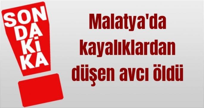 Malatya'da kayalıklardan düşen avcı öldü