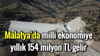 Malatya'da milli ekonomiye yıllık 154 milyon TL gelir
