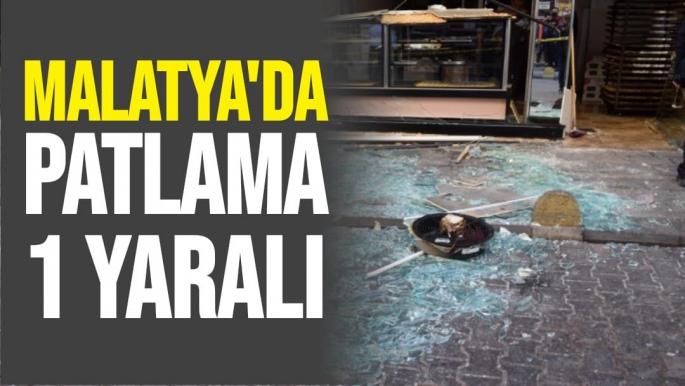 Malatya'da patlama 1 yaralı