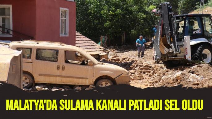 Malatya'da sulama kanalı patladı sel oldu