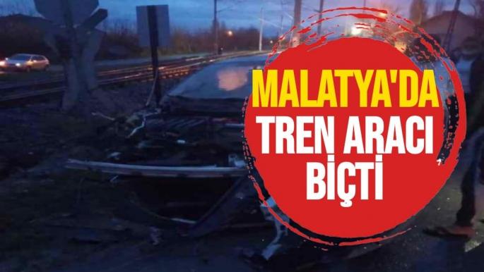 Malatya'da tren aracı biçti