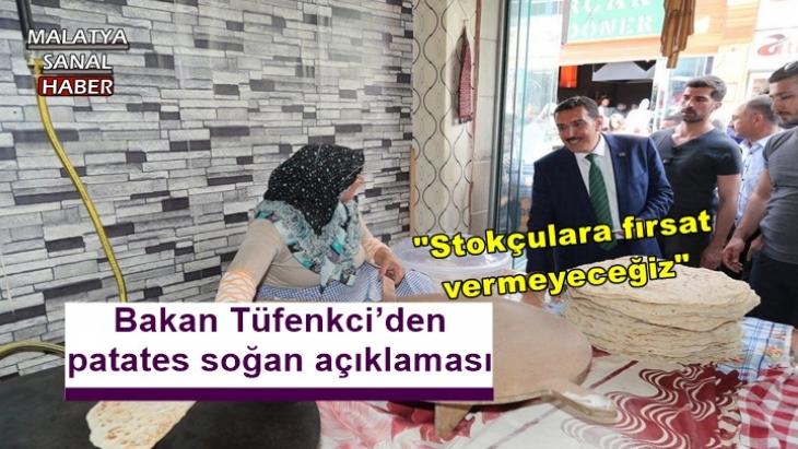 Bakan Tüfenkci'den patates soğan açıklaması
