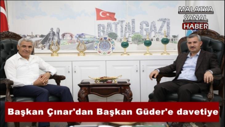 Başkan Çınar'dan Başkan Güder'e davetiye