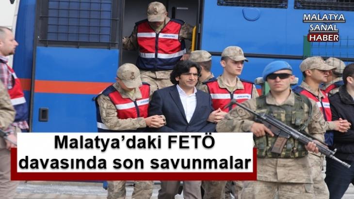 Malatya'daki FETÖ  davasında son savunmalar